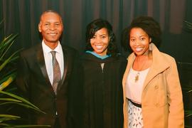 The Chitungo family at the School of Graduate Studies Graduation
