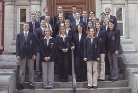 The first students enrolled in the Laurentian Leadership Centre program, Fall 2002