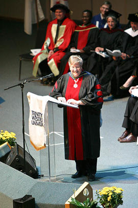 Commencement speaker Deborah Grey at Graduation 2009