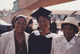 Graduating student Angelique Gordon, with family