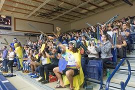 Fans at the volleyball season opener
