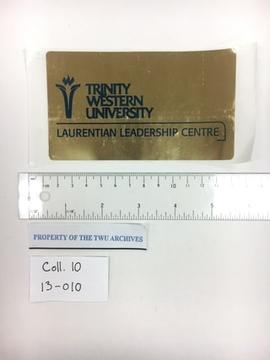 Gold Laurentian Leadership Centre Sticker