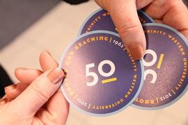 50th Anniversary stickers