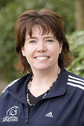 Athletics staff member Carol Hofer
