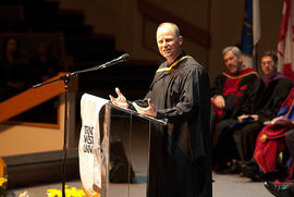 Glenn Hanson speaking during Graduation 2009