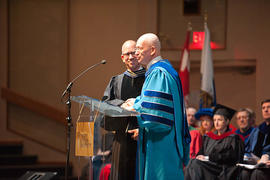 Dr. Robert Botsford with President Jonathan Raymond at Graduation 2011