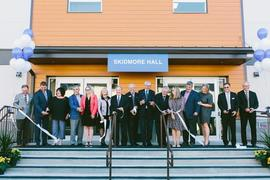 Skidmore Hall Dedication and ribbon-cutting