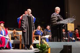 Kevin Jenkins and President Kuhn at Graduation 2014