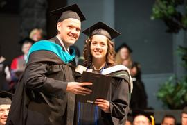 Sheldon Loeppky with Kelly Lamb at Graduation 2013