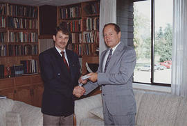 President Snider with donor Gordon Grines