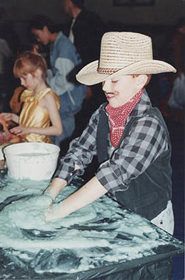 Child in cowboy costume
