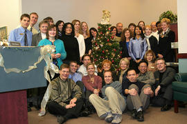Advancement Group staff at Christmas