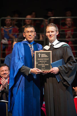 Ka Yin Leung with valedictorian Matthew Ness at Graduation 2011