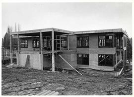 The front elevation of Mattson Centre under construction