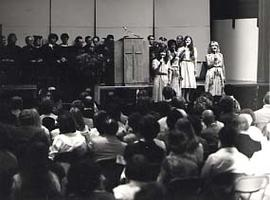 Music group, Aleithia, performing during convocation