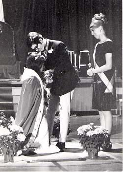 Homecoming queen being crowned