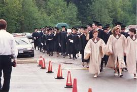 Student processional for graduation