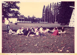 A Class in session on the lawn