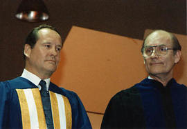 President Neil Snider and speaker at the graduation ceremony