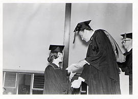 Calvin Hanson during a grad ceremony