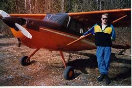 Kevin Palko with an airplane
