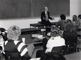 John White speaking at the Staley Lectures