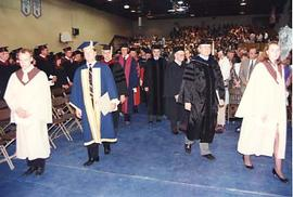 Faculty processional for graduation