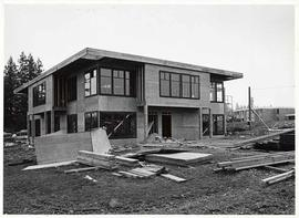 Rear elevation of Mattson Centre under construction
