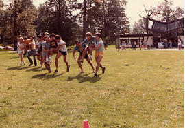 Three-man race during The Challenge