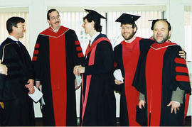 Religious Studies faculty at graduation