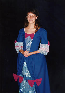 A Student posing in costume
