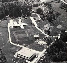 Aerial photograph of campus grounds