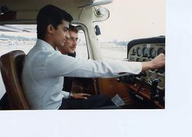 Instructor with aviation student