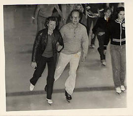 Dr. and Mrs. Neil Snider ice skating