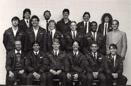 The Aviation Class of 1986 posing together in TWU uniform