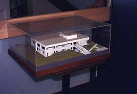 Model of a proposed building on campus