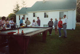 Aviation staff barbeque held at the Smiths'