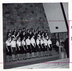 Choir performing in the chapel