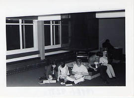 Students in Douglas Hall lounge