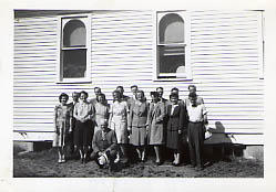 Christian Workers Group posing outside