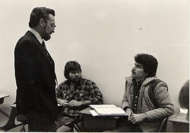 Dr. Ken Davis with students