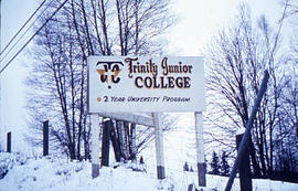 Slide 31 - the TJC sign on a snowy day