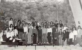 College Choir posing in the Chapel