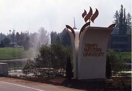 TWU torch road sign