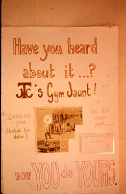 Slide 12 - a poster advertising the TJC Gym Jaunt