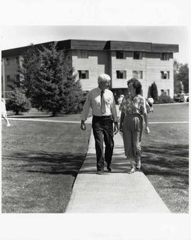 John Klassen and Kelsey Haskett walking together