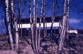 Slide 63 - Vernon Strombeck Library, rear elevation