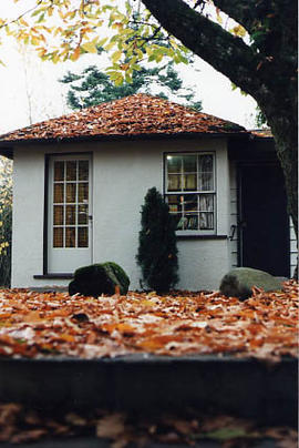 Seal Kap House with fall leaves