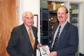 Peter Stursberg standing with David Twiest in the Archives