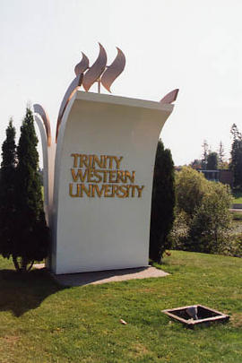 The Trinity torch road sign